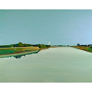 Gregory Kondos, Sacramento River, 1981. Oil on canvas.