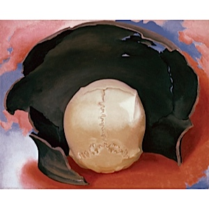 Georgia O'Keeffe, It Was a Man and a Pot, 1942. Oil on canvas.